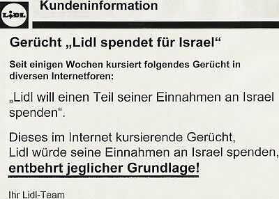 Flyer Lidl Israel Spende