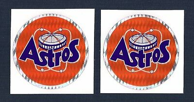 Houston Astros MLB Prismatic Decal Stickers Team Logo Lot of (2)