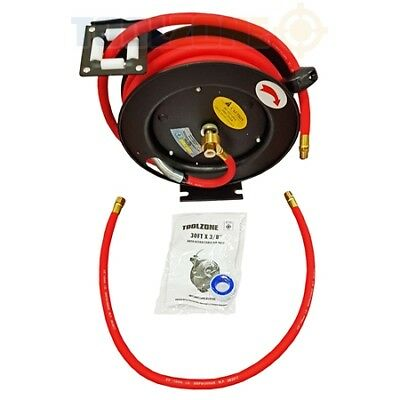 """Air Line Hose Reel 30 Feet 3/8"""" Inch Auto Retractable Wall Mounted Rewind"""