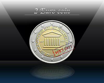 BELGIUM 2 EURO 2017 ( Ghent University ) 2 euro Commemorative Coin *UNCIRCULATED