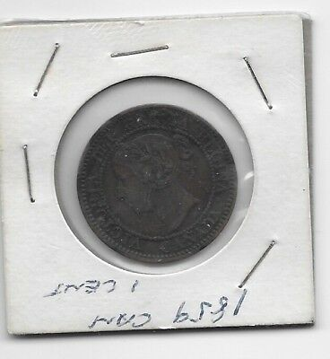 1859 VICTORIA LARGE CENT PENNY VERY NICE! Ungraded