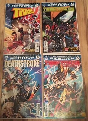 Titans #11 Teen Titans #8 Deathstoke #19 + (2017) DC Rebirth Lazarus Contract