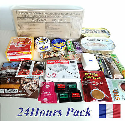 Food Ration Military French Army RCIR  24H Daily Pack Emergency Set Camping Box