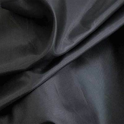 "Black Lining Fabric China Silk/Habutae Polyester 58-60"" Wide By the Yard"