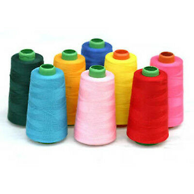 4 X 5000 Yards QUALITY SEWING THREAD 120s SPUN POLYESTER, OVERLOCKING