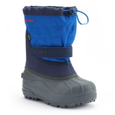 NEW Columbia Powderbug  Plus II Toddler Boys 6 Snow Winter Boots Blue Waterproof
