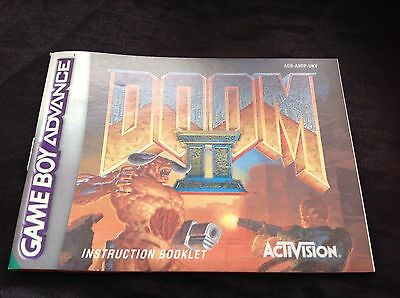 Doom Ii Nintendo Gameboy Advance Gba **instruction Manual Only**