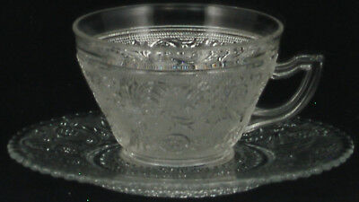 Colony Sandwich Clear Cup and Saucer