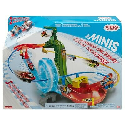 (damaged box) Thomas & Friends Minis Motorised Raceway Playset With 2 Exclusive
