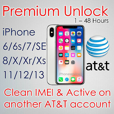 SEMI PREMIUM FACTORY UNLOCK SERVICE CODE FOR AT&T ATT iPhone 11 Xs Xr X 8 7 6s 6
