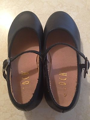 BLOCH Techno BLACK Tap Dance Shoes Size Youth Girls 11
