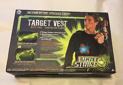 New WowWee LIGHT STRIKE Laser Tag Target Vest Shield W Interactive Light & Sound