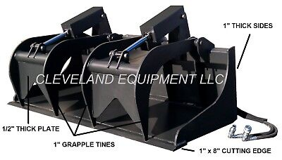 "NEW 84"" SEVERE-DUTY GRAPPLE BUCKET ATTACHMENT Bobcat Skid Steer Track Loader 7'"