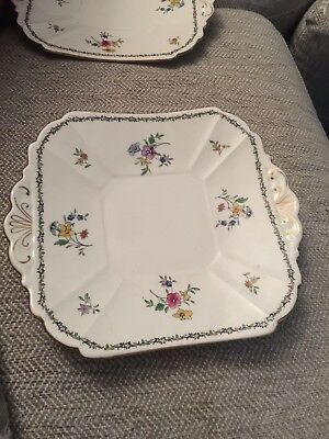 Shelley Lowestoft Cake Plate 11595  Reg No 733019 Perfect 2 Avail