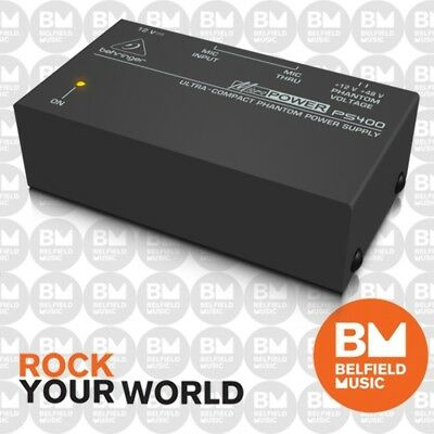 Behringer Micropower PS400 Ultra-Compact Phantom Power Supply PS-400 - Brand New