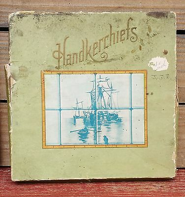 Vintage Collectible Handkerchief With Original Box Early 1900's !!