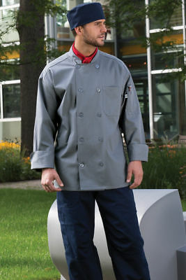Orleans chef coat, Brown, Navy Blue, Olive, Slate or Stone, sizes XS-6XL, 0488