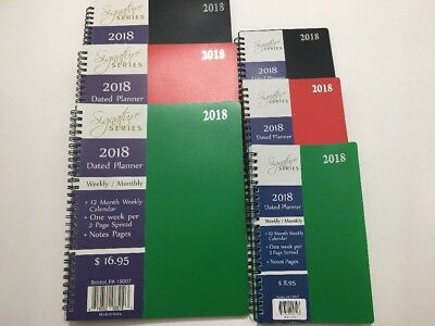 2018 Wekly Monthly Dated Planner Calendar Agenda Appointment SPIRAL 8x10 and 5x8