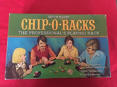 Chip O Racks Poker Chip Rackers 8 Individual Hollywood CA Poker No 2075 Vintage