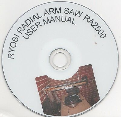 Ryobi Ra 2500 Radial Arm Saw User Manual On Cd