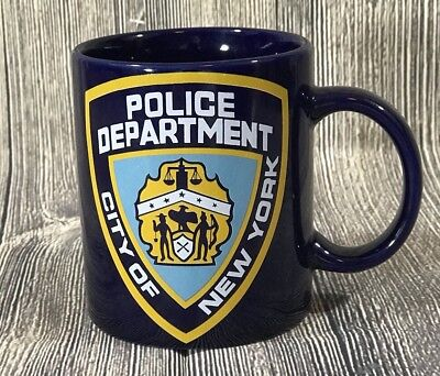 NEW NYPD Police Officer Department City Of New York Coffee Tea Blue Mug Cup 3.5""