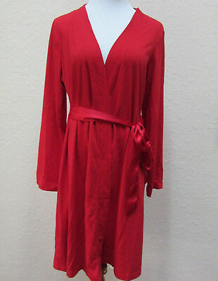 Bump in the Night Maternity Pregnancy Large Red Robe Bathrobe Nursing Wrap Gown