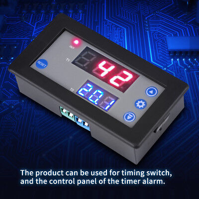 12V Timing Delay Relay Module Cycle Time Digital LED Dual Display 0-999 hour 10A