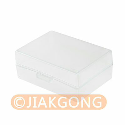 5pcs White Hard Plastic Case Holder Storage Box for Battery LP-E6 LP-E8 FM500H