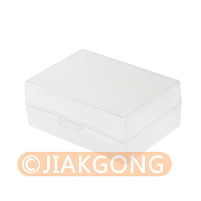White Hard Plastic Case Holder Storage Box for Battery LP-E6 LP-E8 EL3E FM500H