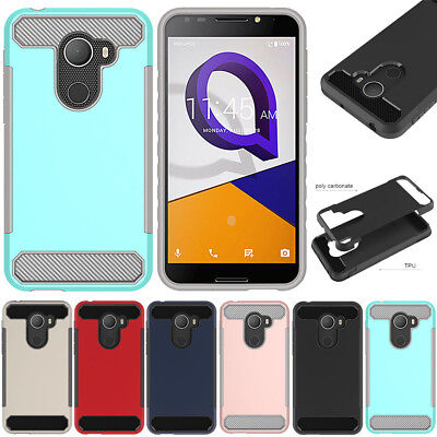 Hybrid Brushed Hard Armor Shockproof Phone Cover For ALCATEL REVVL/A30 Plus Case