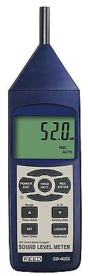 Reed Instruments SD-4023 Sound Level Meter Data Logger 30 to 130dB