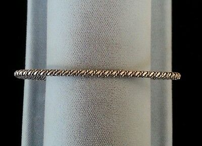 Sterling Silver Bracelet Hand Made Twisted Rope Native American Navajo