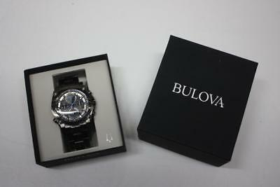 Men's Bulova Precisionist Chronograph Black IP Watch with Black Dial - 98B229 -