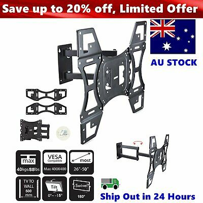 TV Wall Mount Bracket Full Motion Tilt Swivel Pivot 32 40 42 43 50 55 60 65 Inch