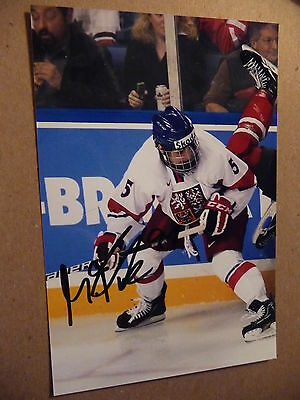 Martin Frk SIGNED 4x6 photo Halifax Mooseheads DETROIT RED WINGS PROOF #3