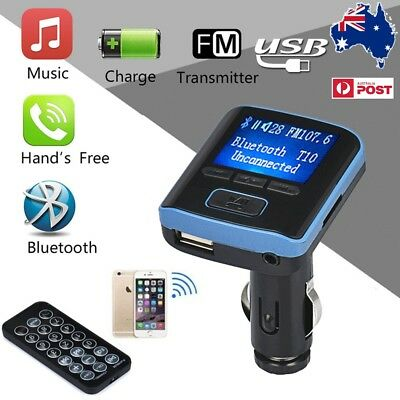 AU Bluetooth Car Kit Wireless FM Transmitter Dual USB Charger Audio MP3 Player