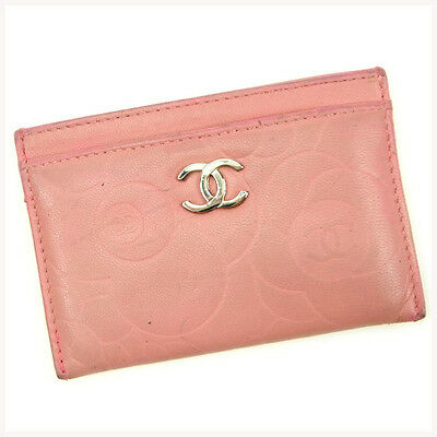 Auth CHANEL Card Case Camellia Women''s used J13856