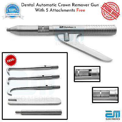 Automatic Crown Remover Gun Crown & Bridge Remover With 5 Free Attachments Lab