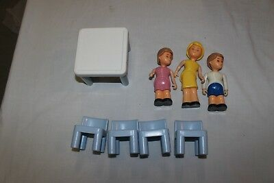 Little Tikes Dollhouse people, 4 chairs, table.