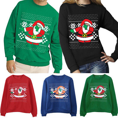 New Christmas Xmas Jumper Funny Funny Mens Ladies Novelty Knitted Sweater Santa