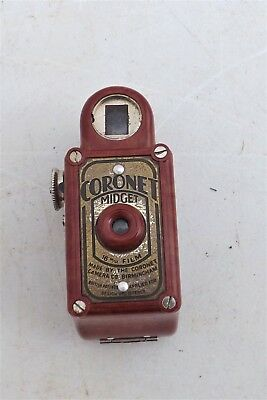 RARE RED CORONET MIDGET 16MM 1930s BRITISH MADE SPY CAMERA BIRMINGHAM