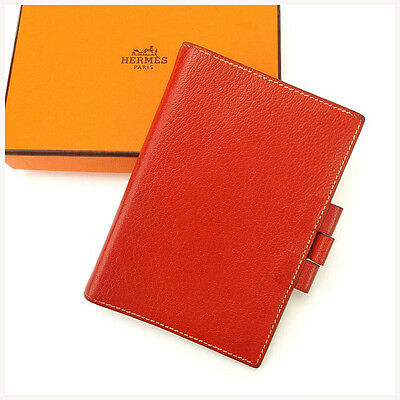 Auth HERMES notebook cover used J6332