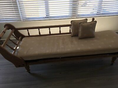Antique Timber Miners Couch Daybed/chaise