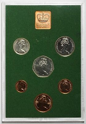 1975 Queen Elizabeth Ii Great Britain Commemorative Proof Coin Set