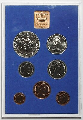 1977 Elizabeth Ii Great Britain Silver Jubilee Commemorative Proof Coin Set