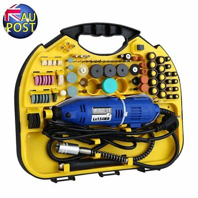 211Pcs Electric Drill&Grinder Polish Dremel Tool Kit Variable Speeds Rotary H6
