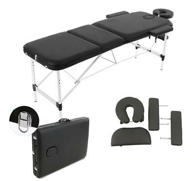 ABODY Massage Table 84'' 3 Fold Portable Therapy Massage Bed Facial SPA Bed F9E9