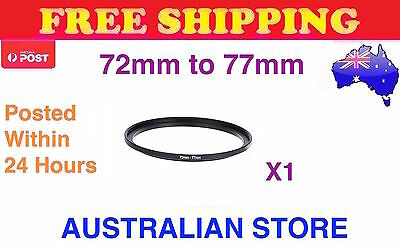 72-77 72mm to 77mm Metal Step Up Step-Up Ring for Lens Filter Stepping Macro