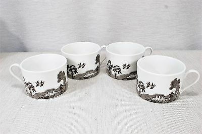 LOT of 4 American Atelier BLACK WILLOW Flat Cups MINT! 5231-20