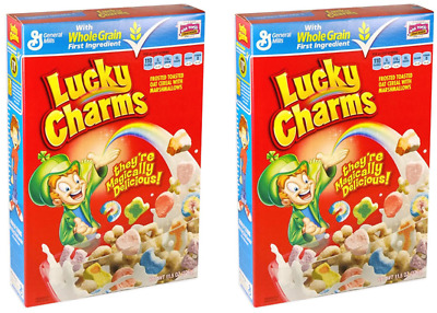 910381 2 x 326g BOXES OF LUCKY CHARMS FROSTED & TOASTED CEREAL WITH MARSHMALLOWS